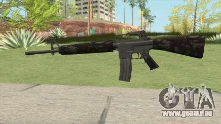 M16A2 Partial Forest Camo (Ext Mag) pour GTA San Andreas
