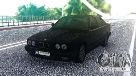 BMW E34 525 Black pour GTA San Andreas