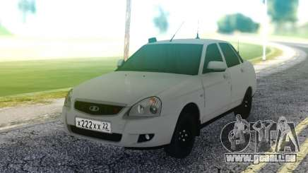 Lada Priora White Sedan für GTA San Andreas