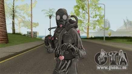 HazMat Skin Black pour GTA San Andreas