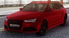 Audi RS6 Avant Red für GTA San Andreas