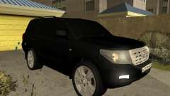 Toyota Land Cruiser 200 2008 Black pour GTA San Andreas