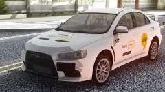 Mitsubishi Lancer Evolution X Yandex Taxi