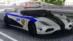 Koenigsegg Agera R Police pour GTA San Andreas