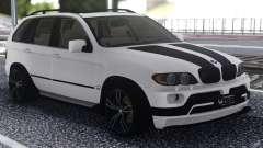 BMW X5 Black And White pour GTA San Andreas