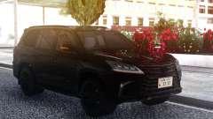 Lexus LX570 2016 BLACK für GTA San Andreas