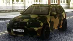 BMW x 5m Dima Gordey (Camouflage) pour GTA San Andreas