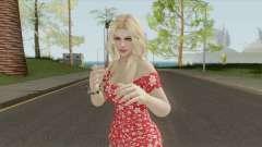 Rachel Casual Red Flower Dress für GTA San Andreas