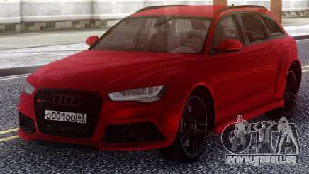 Audi RS6 Avant Red für GTA San Andreas