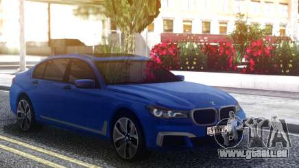 BMW 760Li Blue Sedan für GTA San Andreas