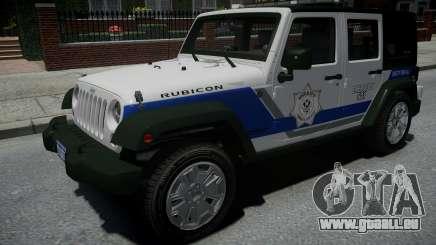 Jeep Wrangler Rubicon 2013 Police pour GTA 4