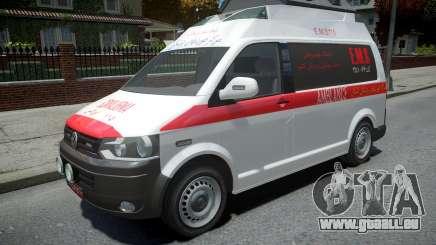 Volkswagen Transporter T5 Amblance pour GTA 4