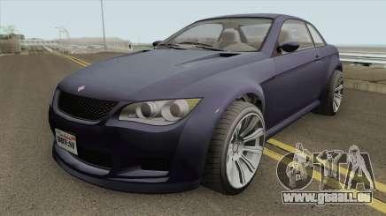 Ubermacht Sentinel XS Custom Stock GTA V für GTA San Andreas