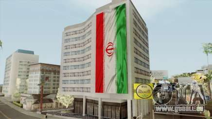 Iran Flag On Building pour GTA San Andreas