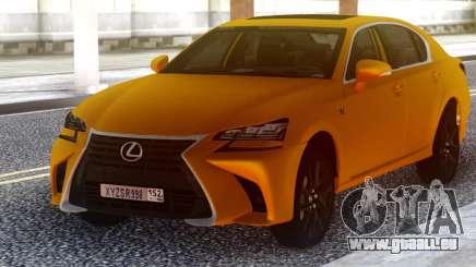 Lexus GS350 2018 Golden pour GTA San Andreas