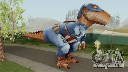 T-Rex Captain America From Avengers Academy pour GTA San Andreas