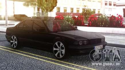 BMW 740i E38 BLACK pour GTA San Andreas