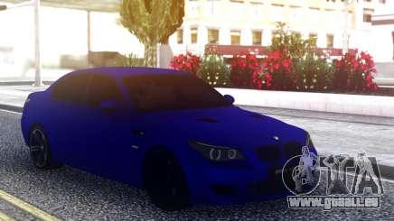 BMW M5 E60 Blue Sedan pour GTA San Andreas