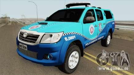 Toyota Hilux 2014 (BEPTUR PMBA) pour GTA San Andreas