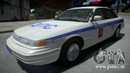 Ford Crown Victoria Moscow Police 1995 pour GTA 4