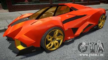 Lamborghini Egoista Orange für GTA 4