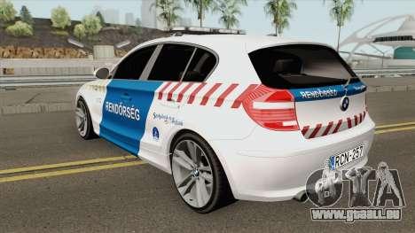 BMW 120i E87 Magyar Rendorseg pour GTA San Andreas