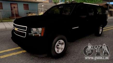 Chevrolet Suburban LT 2007 Black pour GTA San Andreas
