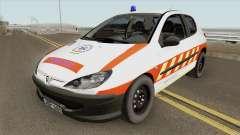 Peugeot 206 Mentoorvos für GTA San Andreas