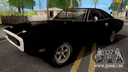 Dodge Charger 1970 Black pour GTA San Andreas