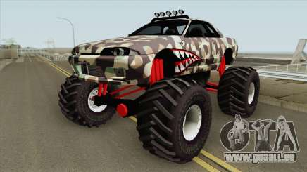 Nissan Skyline R32 Monster Truck Camo Shark für GTA San Andreas