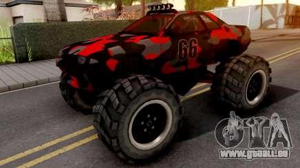 Nissan Skyline R32 Monster Truck Camo v2 pour GTA San Andreas