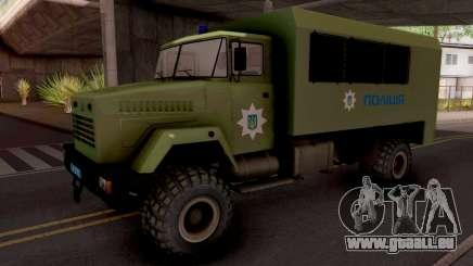 KrAZ-6322 De La Police De L'Ukraine pour GTA San Andreas