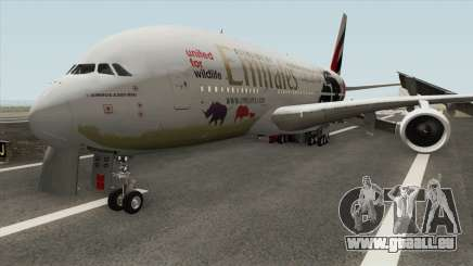 Airbus A380-800 (United For Wildlife Livery) für GTA San Andreas