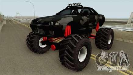 Nissan Skyline R32 Monster Truck Camo MQ für GTA San Andreas