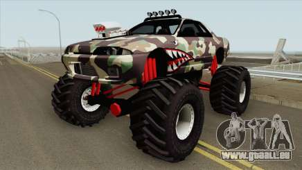 Nissan Skyline R32 Monster Truck Camo Shark MQ für GTA San Andreas