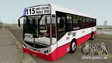 Linea 115 Metalpar Iguazu II Agrale MT15 Interno pour GTA San Andreas
