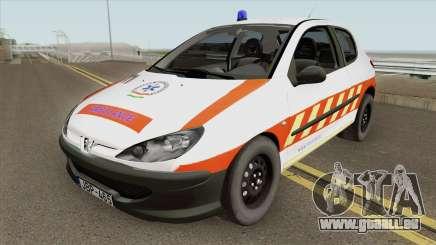 Peugeot 206 Mentoorvos pour GTA San Andreas