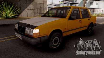 Volvo 460 Yellow Stock pour GTA San Andreas