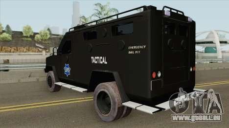 Lenco BearCat (SFPD Tactical Unit) pour GTA San Andreas