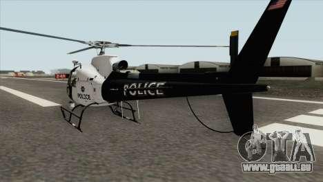 Police Maverick GTA V (SFPD Air Support Unit) pour GTA San Andreas