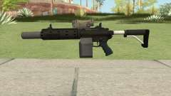 Carbine Rifle V1 Silenced, Tactical, Flashlight pour GTA San Andreas