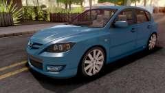 Mazda Speed 3 Blue für GTA San Andreas