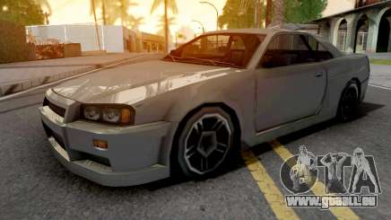 Nissan Skyline R34 Grey pour GTA San Andreas