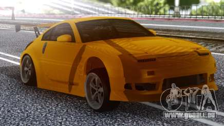 Nissan 350z Yellow für GTA San Andreas