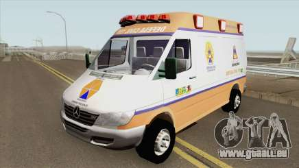 Mercedes-Benz Sprinter Ambulance (Defesa Civil) für GTA San Andreas