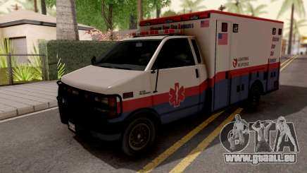 Brute Ambulance GTA 5 White für GTA San Andreas