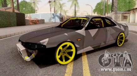 Nissan Skyline R33 Drift Camo v3 pour GTA San Andreas