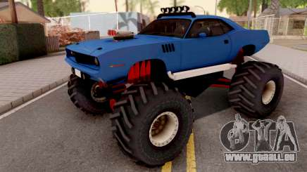 Plymouth Hemi Cuda Monster Truck 1971 pour GTA San Andreas