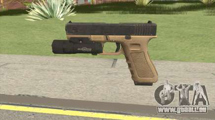 Glock 17 Tan With Flashlight pour GTA San Andreas