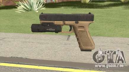 Glock 17 Tan With Flashlight für GTA San Andreas